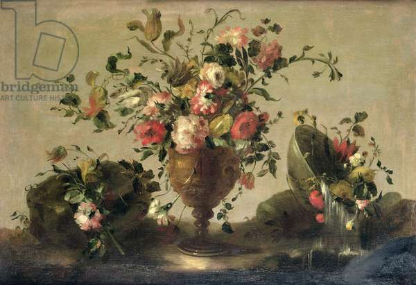 Mixed Flowers in a Gilt Goblet