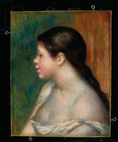Head of a young girl, 1882 (oil on canvas)