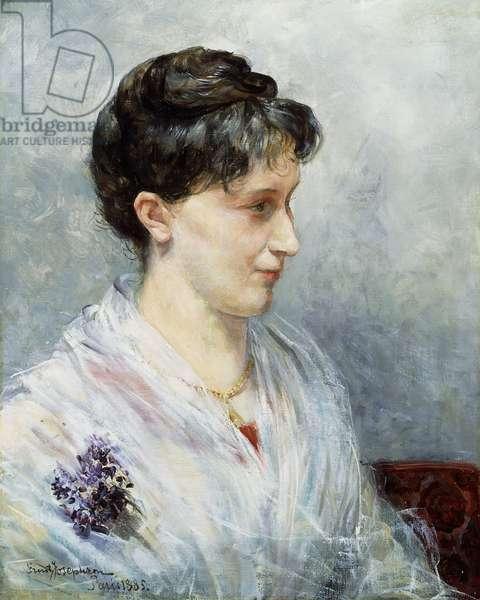Portrait of Maria (Mizi) Waern, 1885 (oil on canvas)