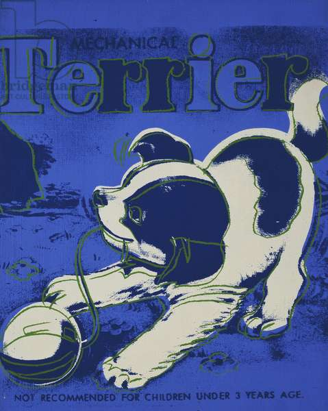 Terrier,  (synthetic polymer and silkscreen inks on canvas)