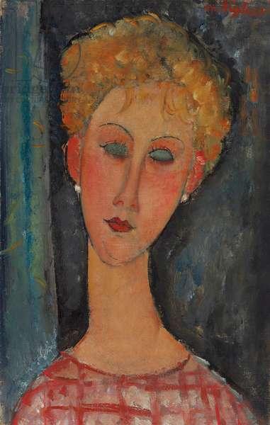 Blonde Woman with Curly Hair; La blonde aux boucles d'oreille, c.1918-1919 (oil on canvas)