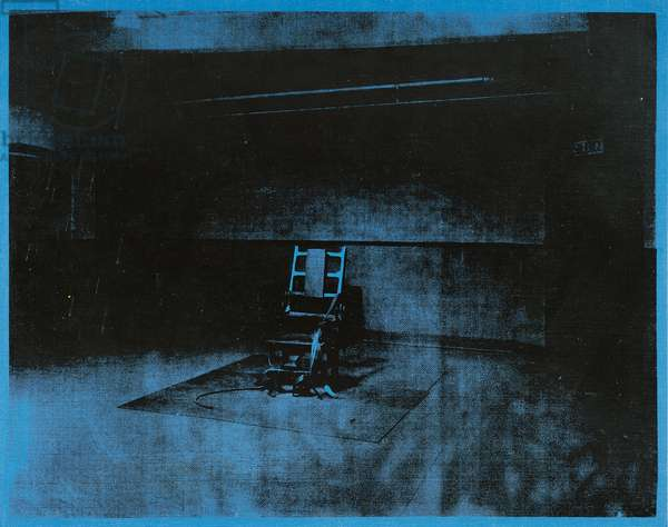 Little Electric Chair, 1964-1965 (acrylic and silkscreen ink on linen)