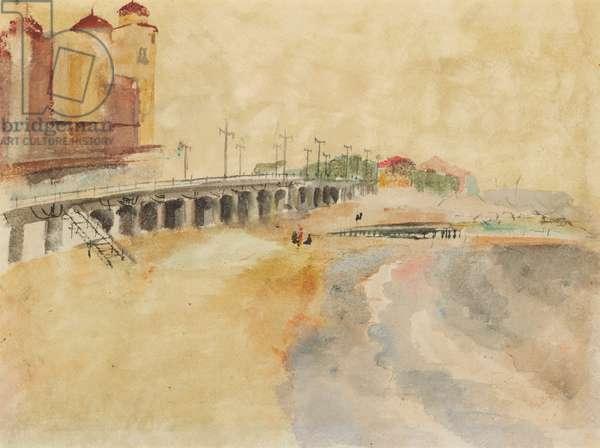 Brighton Beach (verso), c.mid-1930s (watercolour, gouache and graphite on paper)