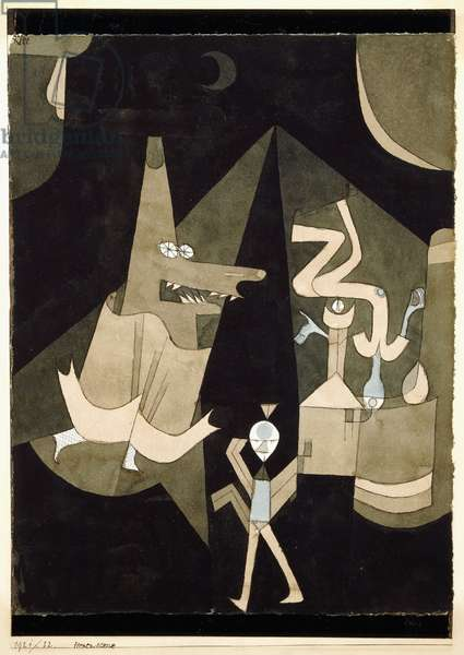 Hexen-scene, 1921 (watercolour and gouache on paper)