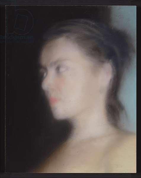 Head (Sketch); Kopf (Skizze), 1997 (oil on aluminum)