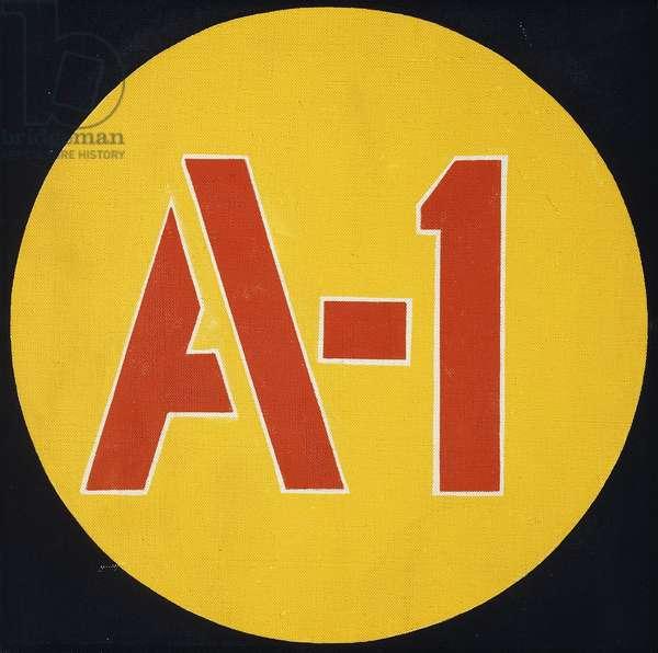 A-1, 1962 (acrylic on canvas)