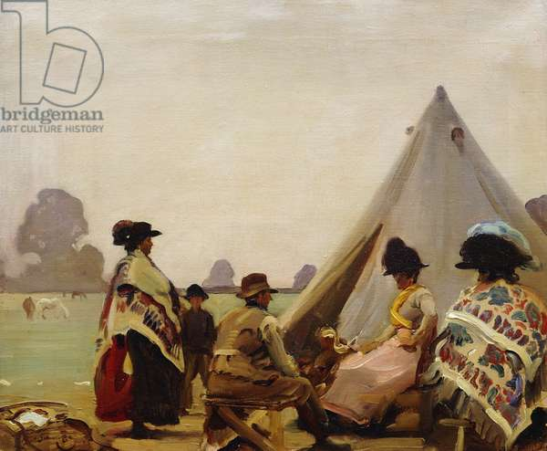 Tente de Bohemians; Gypsies outside their Tent, 1920 (oil on canvas)
