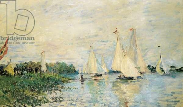 Regatta at Argenteuil, 1874 (oil on canvas)