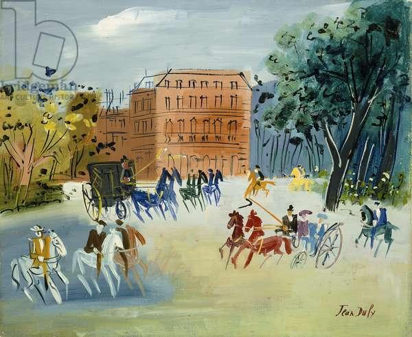 Le Bois de Boulogne, c.1960 (oil on canvas)