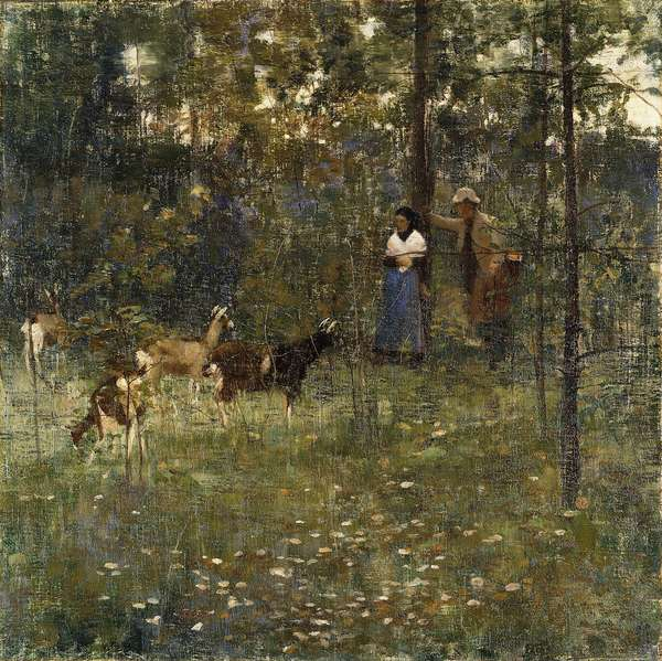A Stranger, 1883 (oil on canvas)