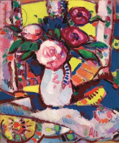 Bouquet of Flowers,  (oil on board)