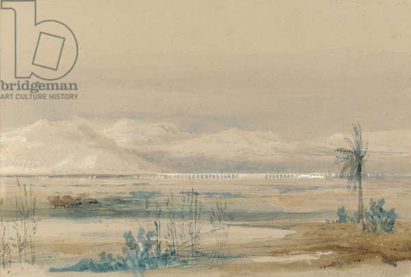 Malaga, March 7th 1833 (pencil and watercolour heightened with white on paper)
