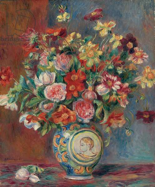 Vase with Flowers; Vase de fleurs, 1881 (oil on canvas)