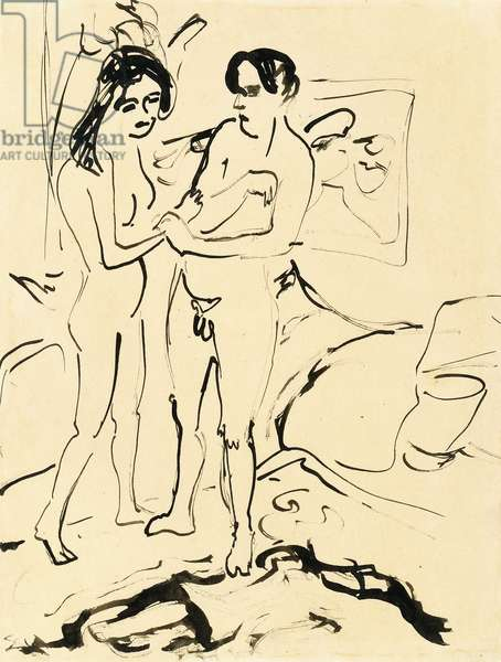 The Pair, c.1907 (pen, brush and India ink on paper)