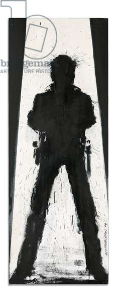 Standing Shadow in Black and White, 2009 (acrylic on canvas laid down on board)