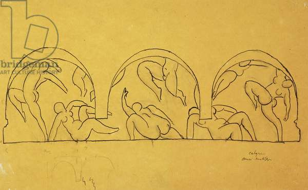 Study For The Dance, 1931-32 (pen and black ink over pencil on tracing paper)
