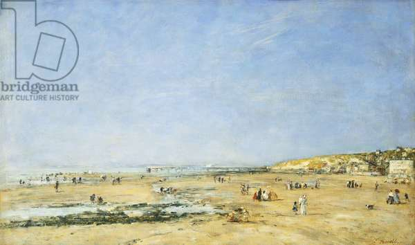 Trouville, General View of the Beach; Trouville, Vue Generale de la Plage, 1890 (oil on canvas)