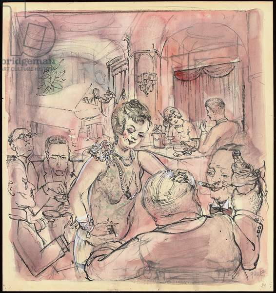 Nightclub V, 1954 (w/c, gouache, pen and India ink and pencil on paper)