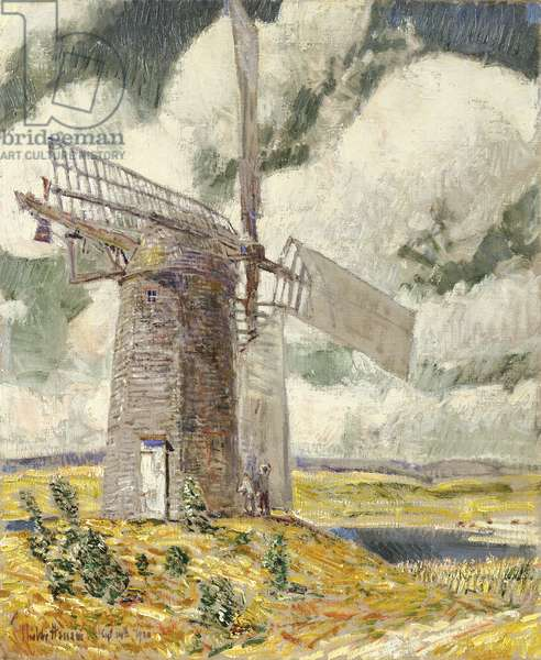 Bending Sail on the Old Mill, 1920 (oil on canvas)