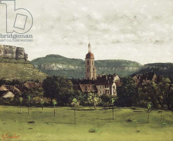 View of Ornans and its Bell Tower, c.1858 (oil on canvas)
