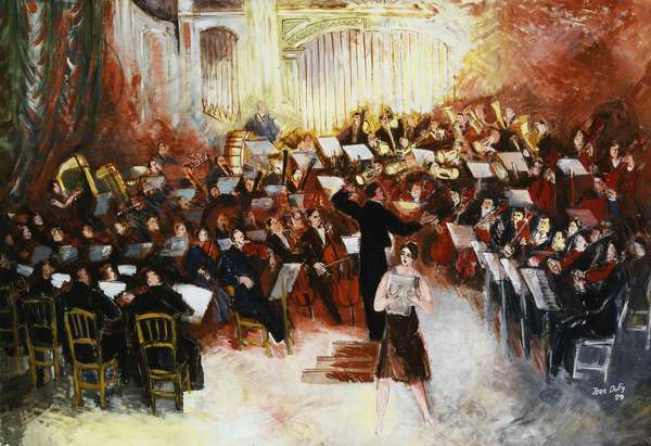 The Orchestra in Full Flow, 1929 (oil on canvas)