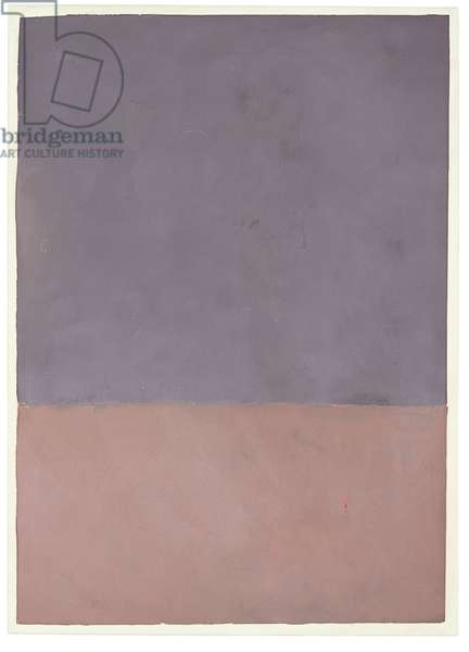 Untitled (Gray and Mauve), 1969 (acrylic on paper)