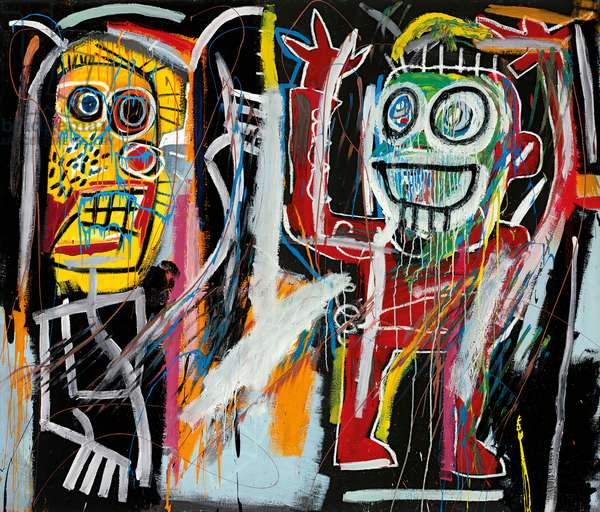 Dustheads, 1982 (acrylic, oilstick, spray enamel and metallic paint on canvas)