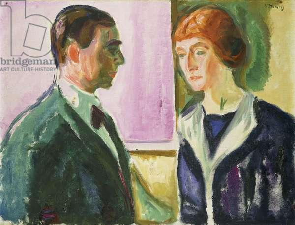 Farewell (Double Portrait of Hugo and Kathe Perls); Abschied (Doppelportrait Hugo und Kathe Perls), c.1912 (oil on canvas)