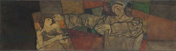 Self-portrait with Model (Fragment); Selbstbildnis mit Modell (Fragment), 1913 (oil on canvas)
