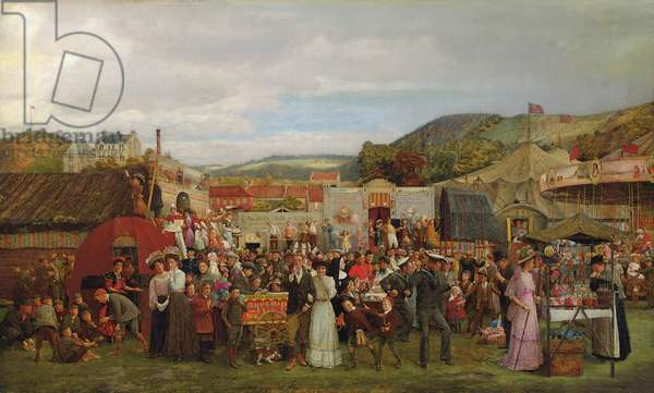 A Scottish Fair, 1910 (oil on canvas)