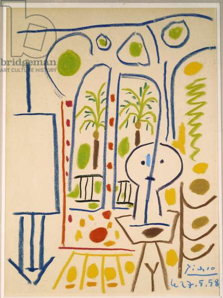 Le Studio. 1958 (coloured wax crayons on paper)