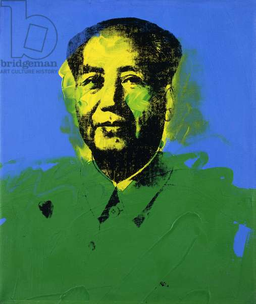Mao - No. 19, 1973 (synthetic polymer and silkscreen inks on canvas)