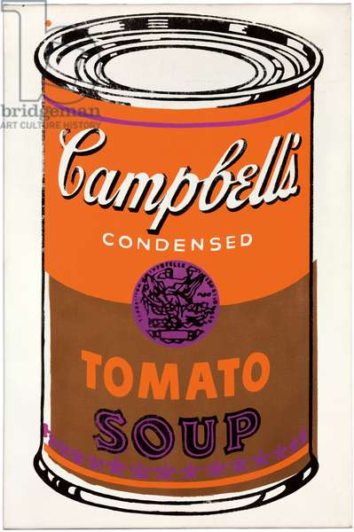 Colored Campbell's Soup Can, 1965 (spray paint and silkscreen inks on linen)