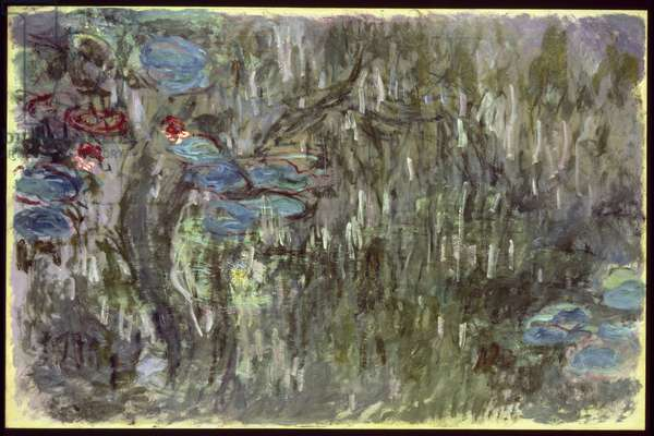 Waterlilies with Reflections of Willows, c.1920 (oil on canvas)