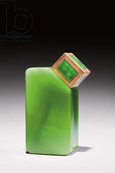 'Woman of Paris', perfume bottle by Baccarat for Ybry, 1925 (crystal, brass & enamel)