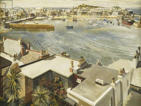 The Harbour, St. Ives, 1937 (oil on canvas)