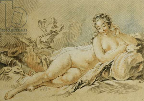 Venus Resting, After Francois Boucher; Le Repos de Venus, After Francois Boucher, 1774 (chalk-manner etching with engraving printed in colours (black, b)