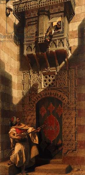A Serenade in Cairo; Eine Serenata in Cairo, 1893 (watercolour)