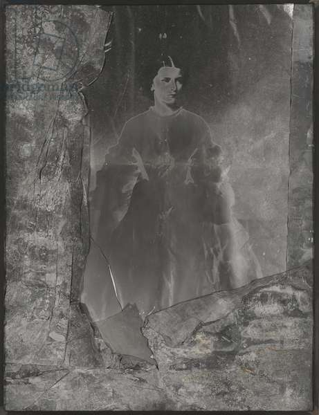 Elisabeth von Osterreich, 1988 (acid-treated lead on gelatin silver print, frame)