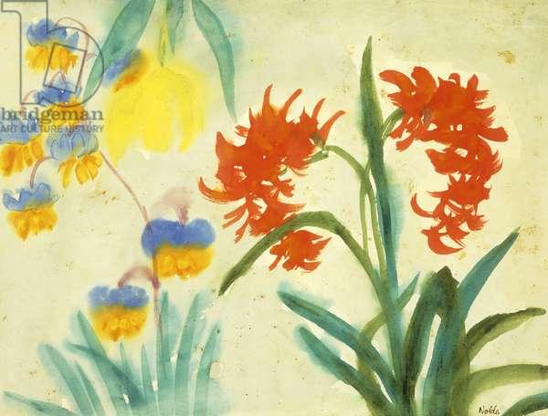 Flowers; Blumen, (watercolour on Japan paper)