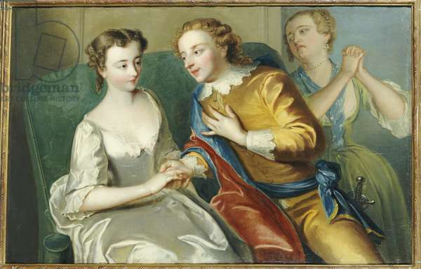 The Proposal (oil on canvas)