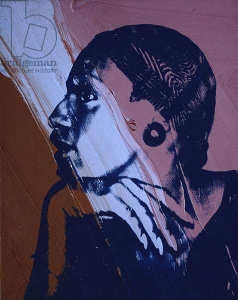 Drag Queen (Wilhelmina Ross), 1977 (synthetic polymer silkscreened on canvas)