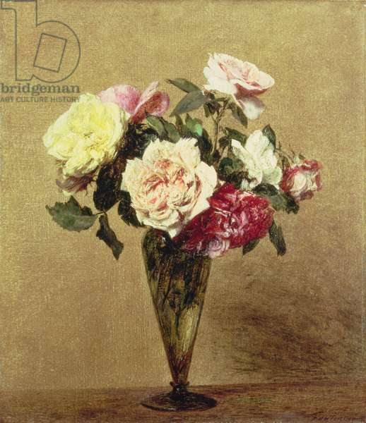 Roses in a Vase, 1892 (oil on canvas)