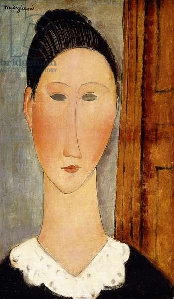 Head of Girl; Testa di Ragazza, c.1918 (oil on canvas)