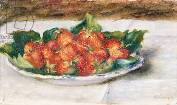 Still Life with Strawberries; Nature Morte avec Fraises, c.1880 (oil on canvas)