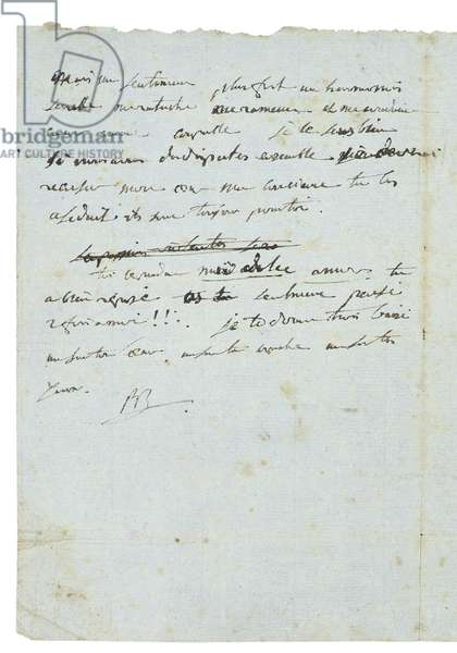 Letter to Josephine de Beauharnais, 1795-6 (pen & ink on paper) (see also 700245-7)