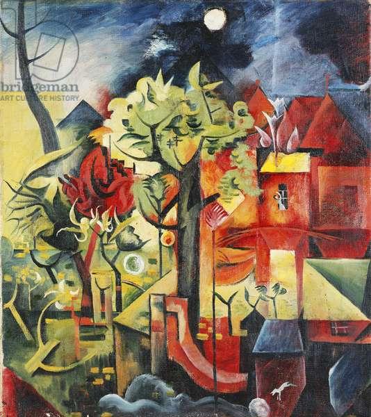 Spring; Fruhling, c.1919 (oil on canvas)