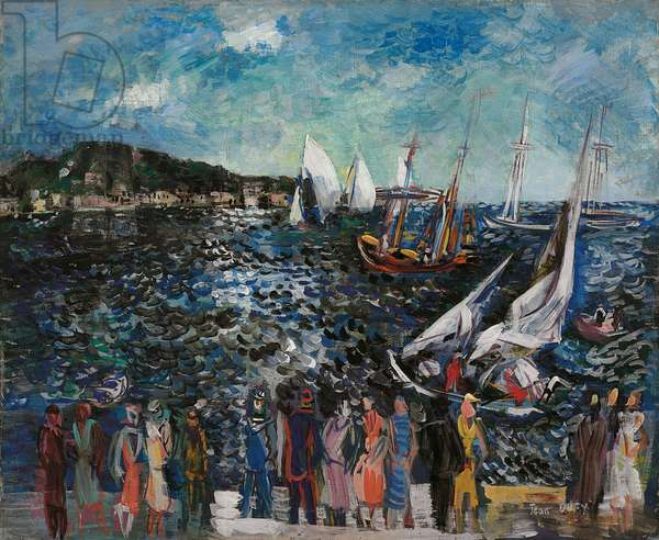 Port Scene; Scene de port, 1927 (oil on canvas)
