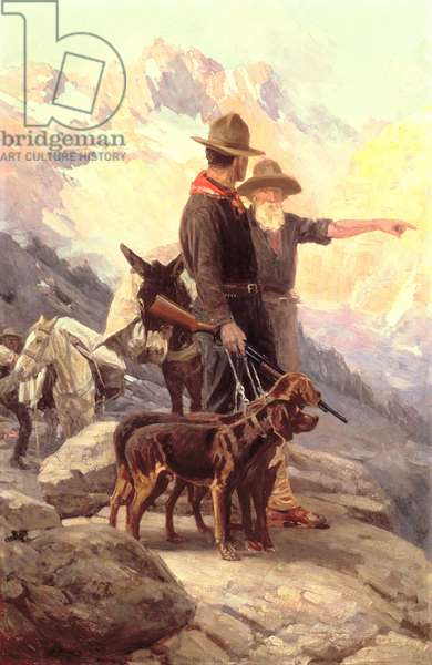 The Mountain Hunt, 1917 (oil on canvas)