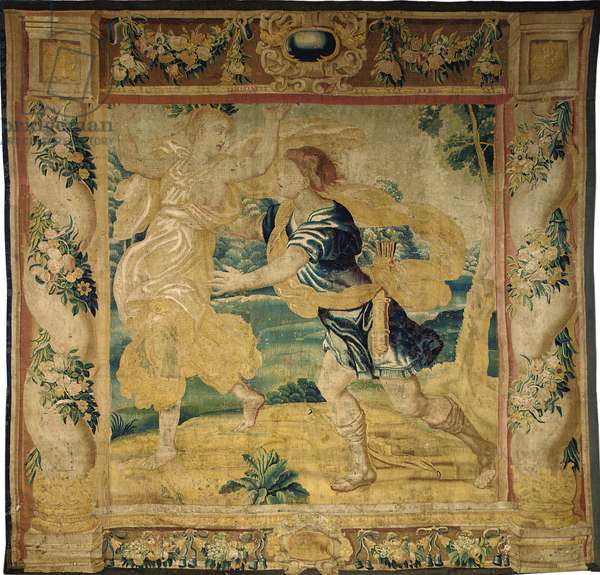 Brussels mythological tapestry, mid 17th century (wool & silk)
